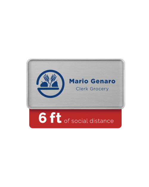 Badge Talker- 6 Feet Social Distance