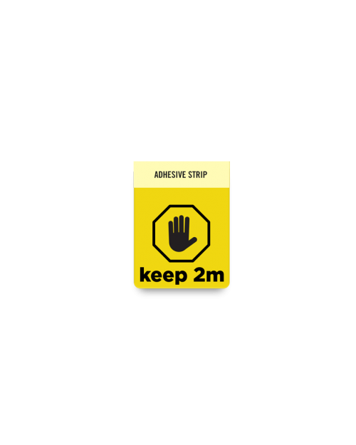 Badge Talker- Keep 2m- Yellow Square