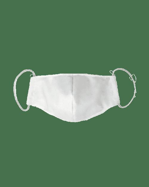 Blank white face mask