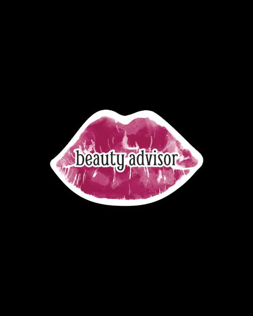 Cosmetics Badges Beauty Advisor lips 1