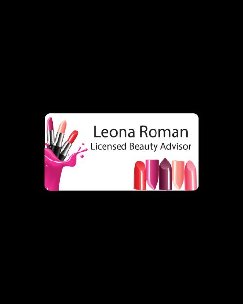 Cosmetics Badges Licensed Beauty Advisor