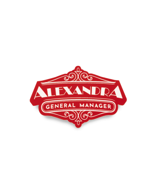 Custom Shape Restaurant Badge