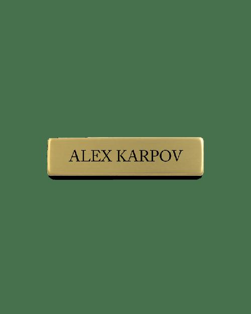 Hospitality Engraved Name Badge