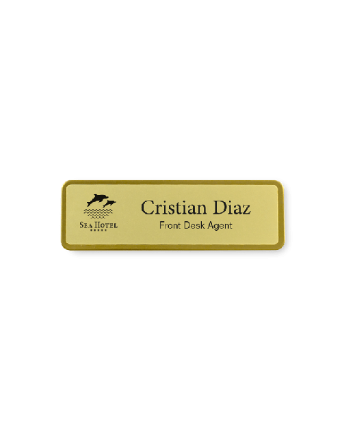 Etched & Frosted Name Badge