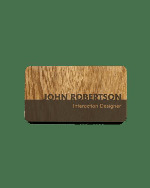 Wood Grain Name Badge