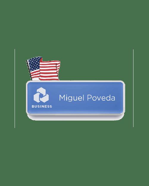 USA Flag Badge Talker