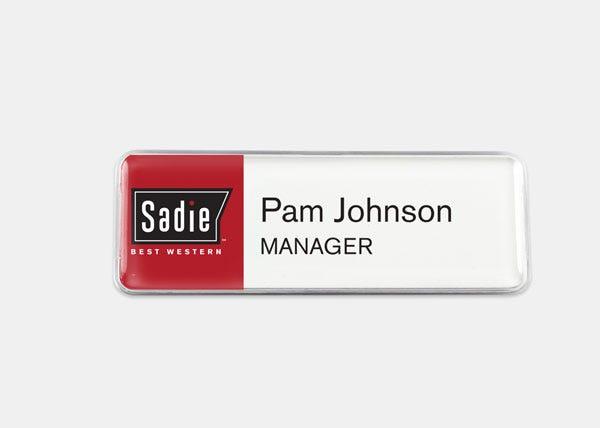 sadie name badge