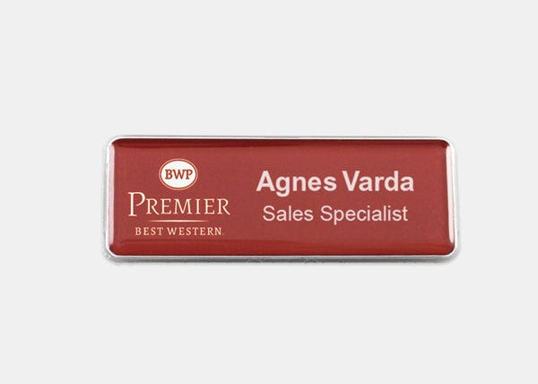 BWP red name badge