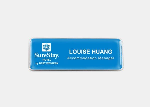 surestay blue name badge