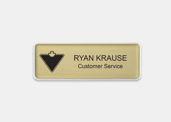 CanadianTire-BrassMD Rectangle Name Badge