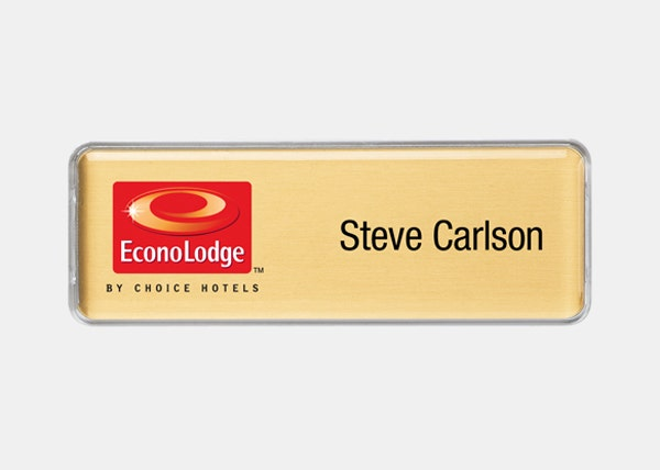 Econolodge rectangle name badge
