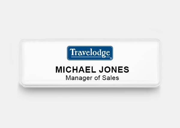 travelodge white name badge