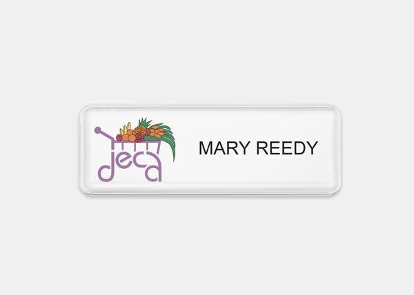White Rectangle Name Badge