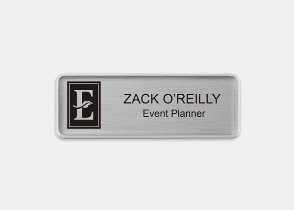 Marriott Silver  Rectangle Name Badge