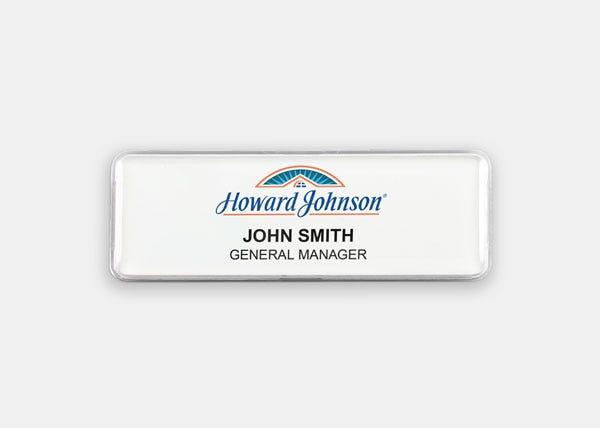 best western plus red name badge