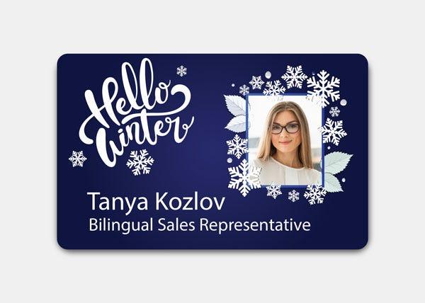 Hellow winter dark blue ID