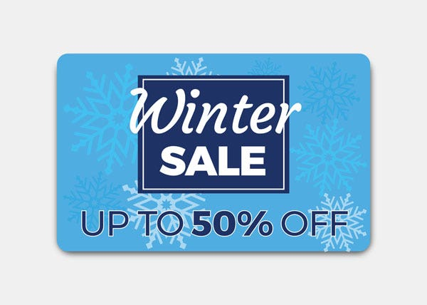 Winter sale blue ID card