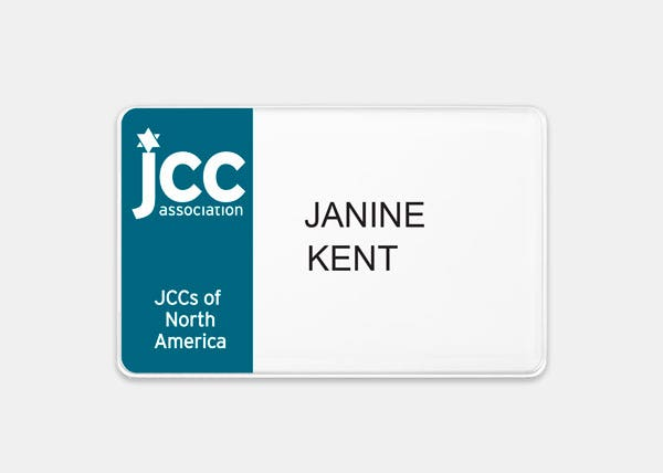 JCC Rectangle Name Badge