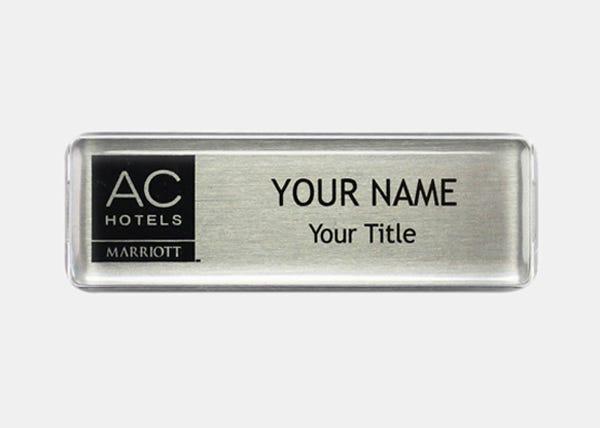 Marriott Silver  Rectangle Name Badge