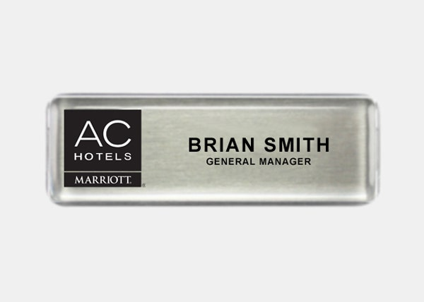 AC hotels name badge