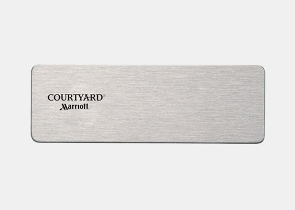 courtyard silver badge plate