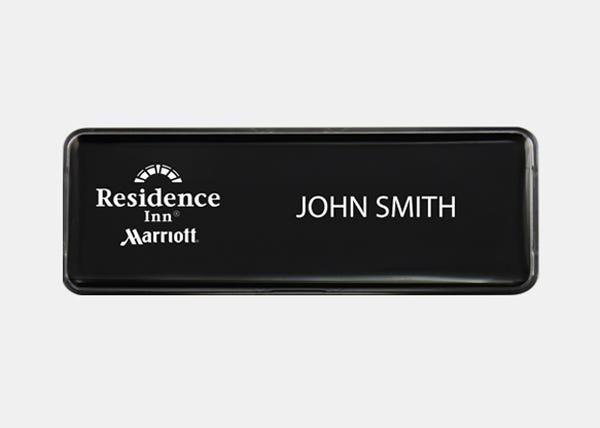residence inn black name badge