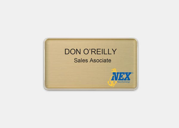 Large Gold Name Tag