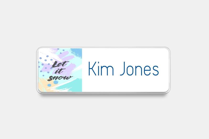 Multi color name badge