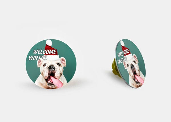 Welcome winter round badge