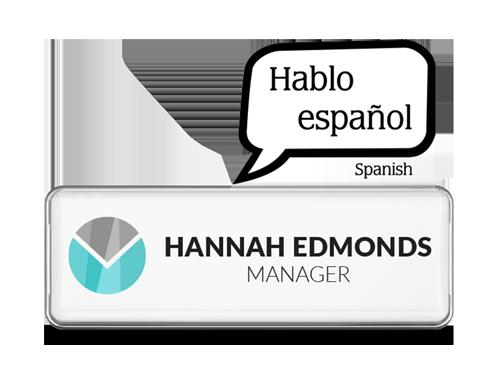 Spanish badge talker