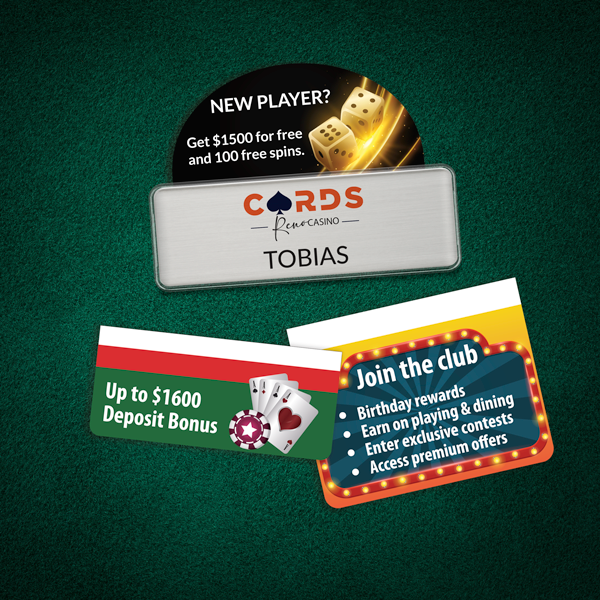 Badge talkers for casinos