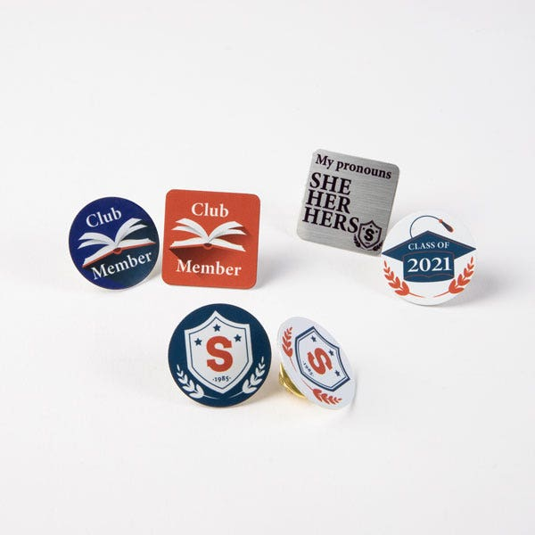 Button badge in Education industry
