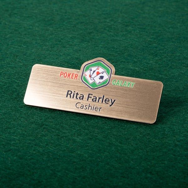 Plastic Custom-Cut Badges for Casinos
