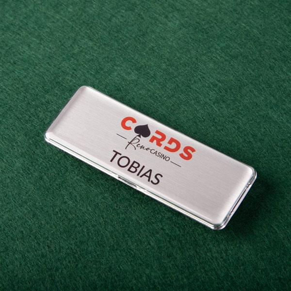 reusable name badges for casinos