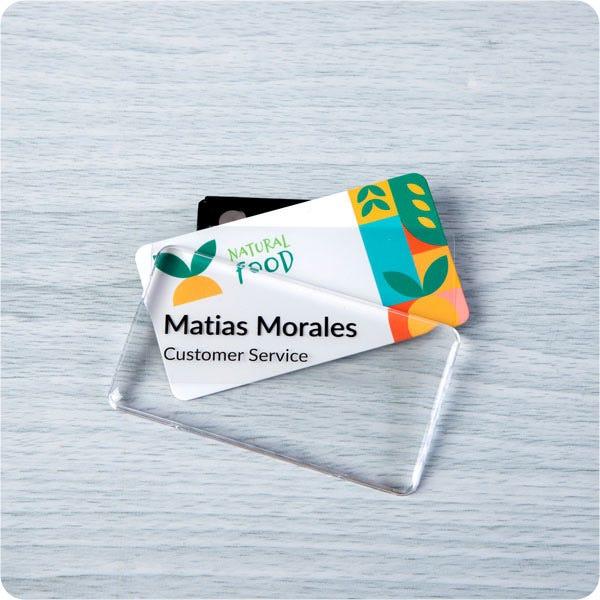 reusable badge in retail industry