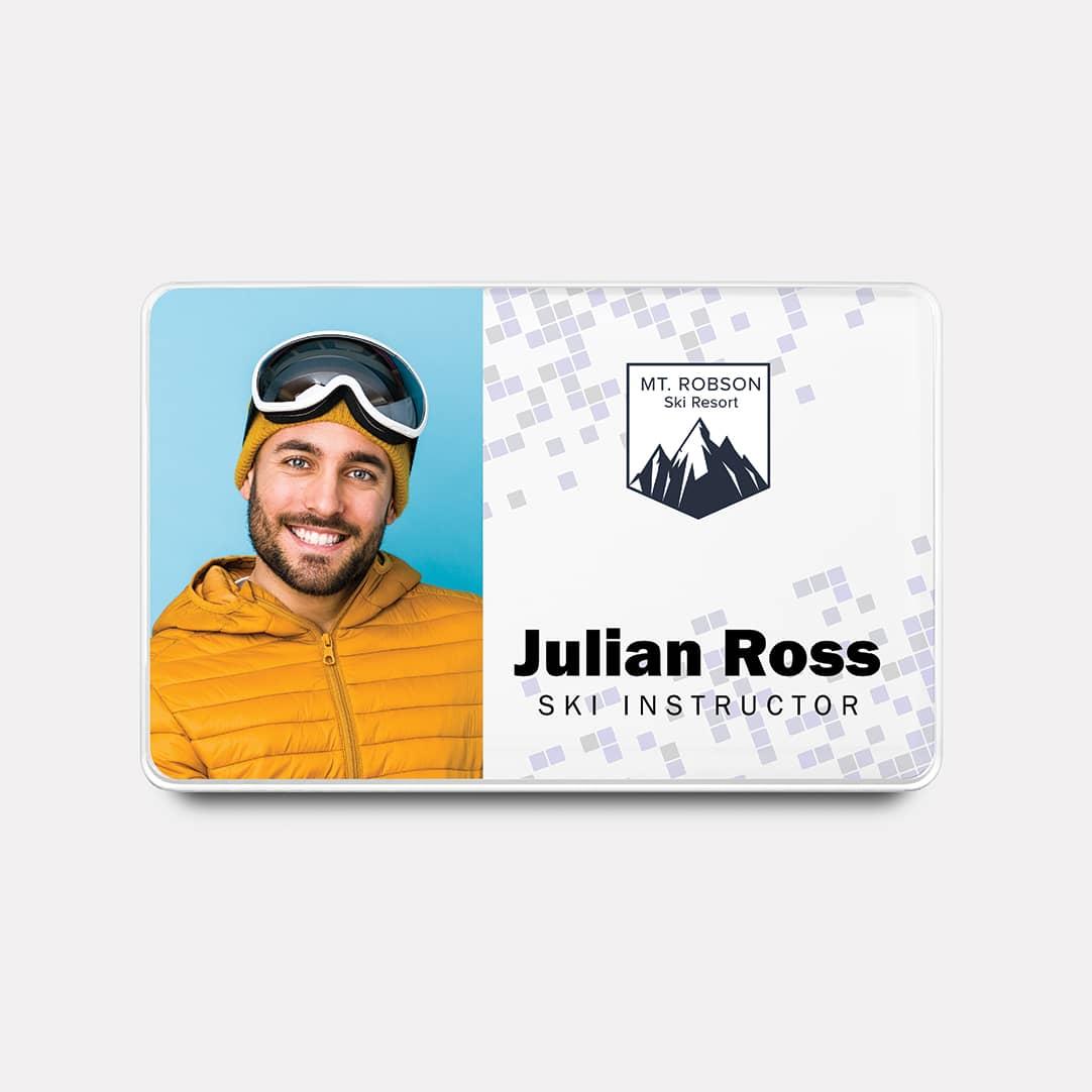 ski square badge